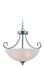 Jeremiah 25333-SN - Raleigh 3 Light Convertible Semi Flush/Pendant in Satin Nickel