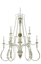 Jeremiah 27329-ATL - Zoe 9 Light Chandelier in Antique Linen