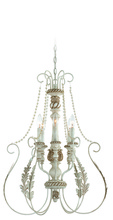 Jeremiah 27336-ATL - Zoe 6 Light Foyer in Antique Linen
