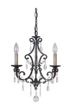 Jeremiah 38923-MBK - Bentley 3 Light Chandelier in Matte Black