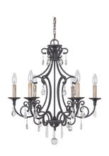 Jeremiah 38926-MBK - Bentley 6 Light Chandelier in Matte Black