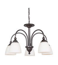 Jeremiah 39925-ESP - 5 Light Down Chandelier