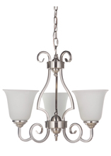 Jeremiah 7120BN3-WG - Cecilia 3 Light Chandelier in Brushed Satin Nickel