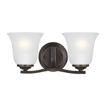 Sea Gull 4439002-782 - Two Light Wall / Bath
