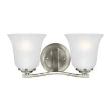 Sea Gull 4439002-962 - Two Light Wall / Bath