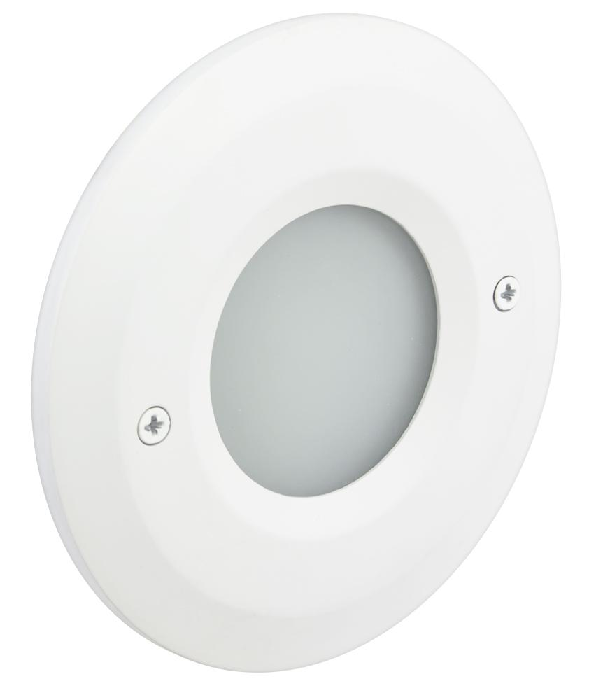 Outer Circle Smooth Faceplate, White