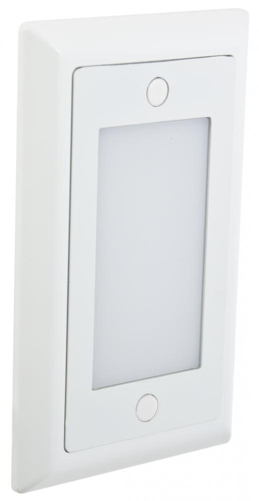 White Smooth Faceplate for Single LED Step Light