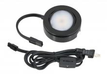 American Lighting MVP-1-BK - MVP LED Puck Light, 120 Volts, 4.3 Watts, 200 Lumens, Black, Single Puck Kit with Roll Switch and 6