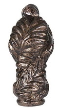 "CAL Lighting FA-5060B - 2.5"" Metal Cast Finial In Rust Finish"