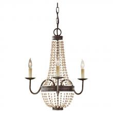 Feiss F2755/3PBR - 3 - Light Chandelier