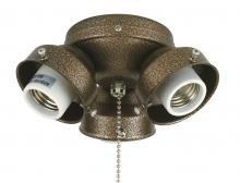 Fanimation F301SN-220 - 3-LIGHT TURTLE FITTER: SATIN NICKEL 220 VOLT