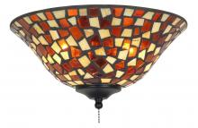 "Fanimation G426 - 13"" GLASS BOWL: MOSAIC, AMBER/BROWN"