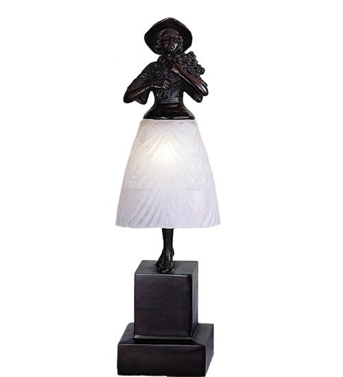 "Manteca Lighting in Manteca, California, United States,  644P, 16""H Silhouette Lady with Bouquet Accent Lamp, Silhouette Lady with Bouquet"