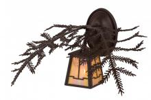 "Meyda Tiffany 166568 - 16""W Pine Branch Valley View Wall Sconce"
