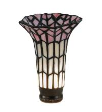 "Meyda Tiffany 17624 - 4""W X 5.5""H Tiffany Pond Lily Pink and White Shade"