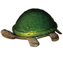 "Meyda Tiffany 18006 - 4""High Green Mottled Turtle Accent Lamp"