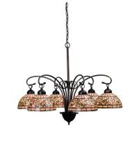 "Meyda Tiffany 18715 - 31""W Tiffany Turning Leaf 6 LT Chandelier"