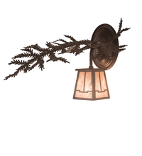 "Meyda Tiffany 198534 - 14"" Wide Pine Branch Valley View Left Wall Sconce"
