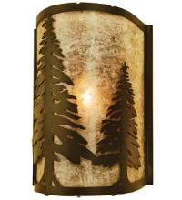 "Meyda Tiffany 68169 - 8""W Tall Pines Wall Sconce"
