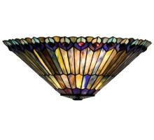 "Meyda Tiffany 82882 - 17""W Tiffany Jeweled Peacock Wall Sconce"